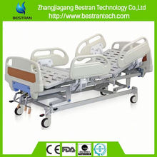BT-AM103 Hospital furniture 3 function central locked manual used home nursing bed for patient