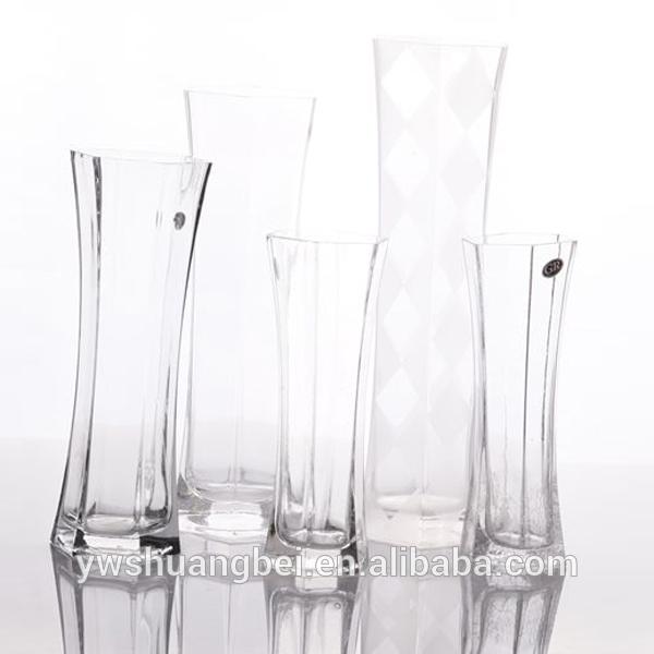 vente en gros des vases en verre hexagonaux clairs pour la. Black Bedroom Furniture Sets. Home Design Ideas