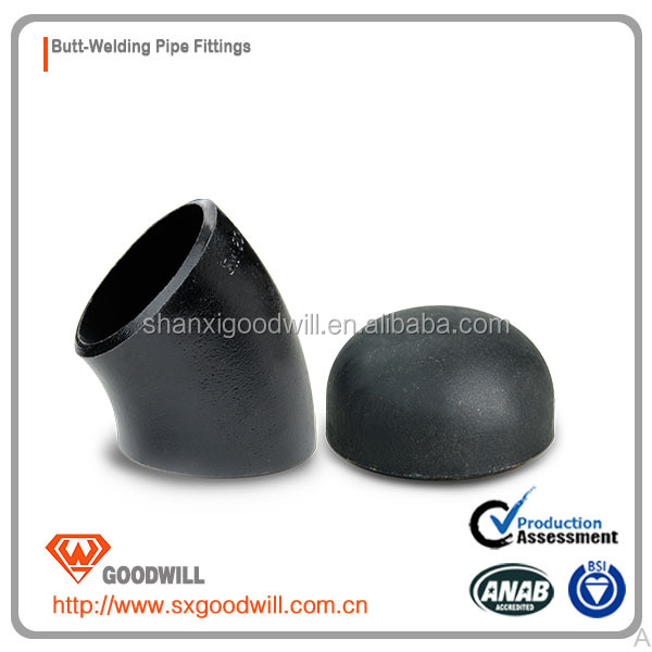 1035 thick wall carbon steel seamless pipe fittings elbow and cap