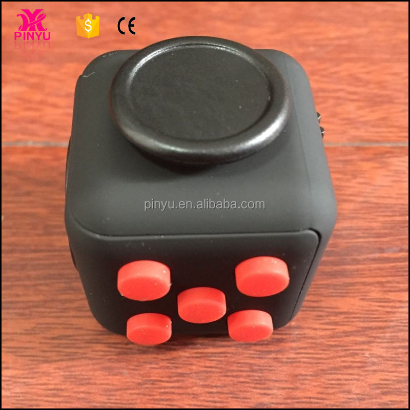 toy fidget spinners fidget cube with 6 functions(Roll,Flip,Click,Glide,Spin,Breathe)