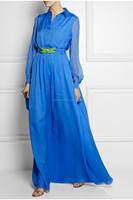 Turkey Silk-chiffon gown, Professional clothing manufacture with factory price maxi dresses (TW0200MD)
