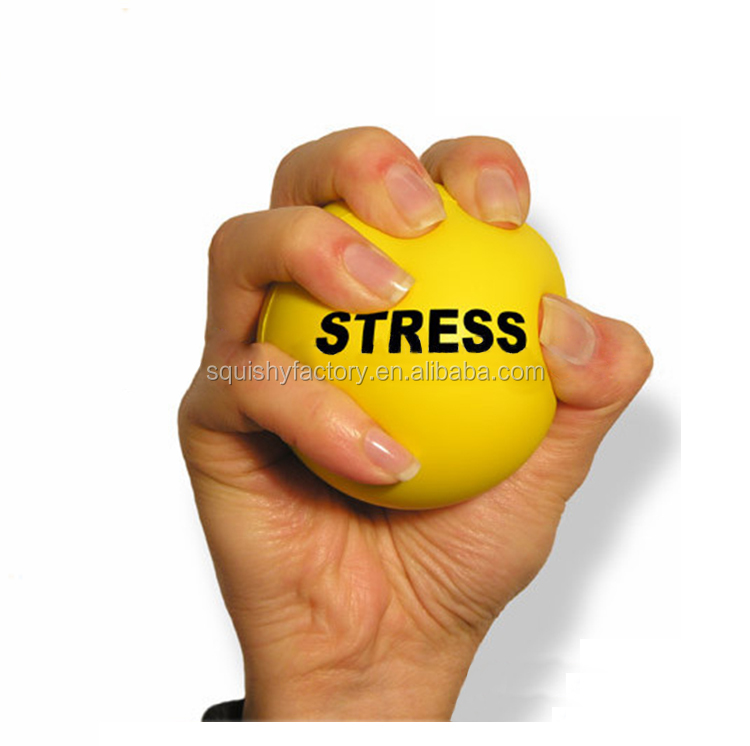 Eco friendly custom shape print logo PU colorful stress ball toy