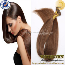 niceborn pre-bonded hair extension,Indian remy hair,I tip hair extension ombre hair extension remy stick tip hair extension