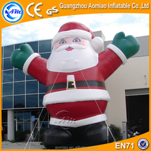2016 Vivid design giant 25ft christmas inflatable santa claus for sale