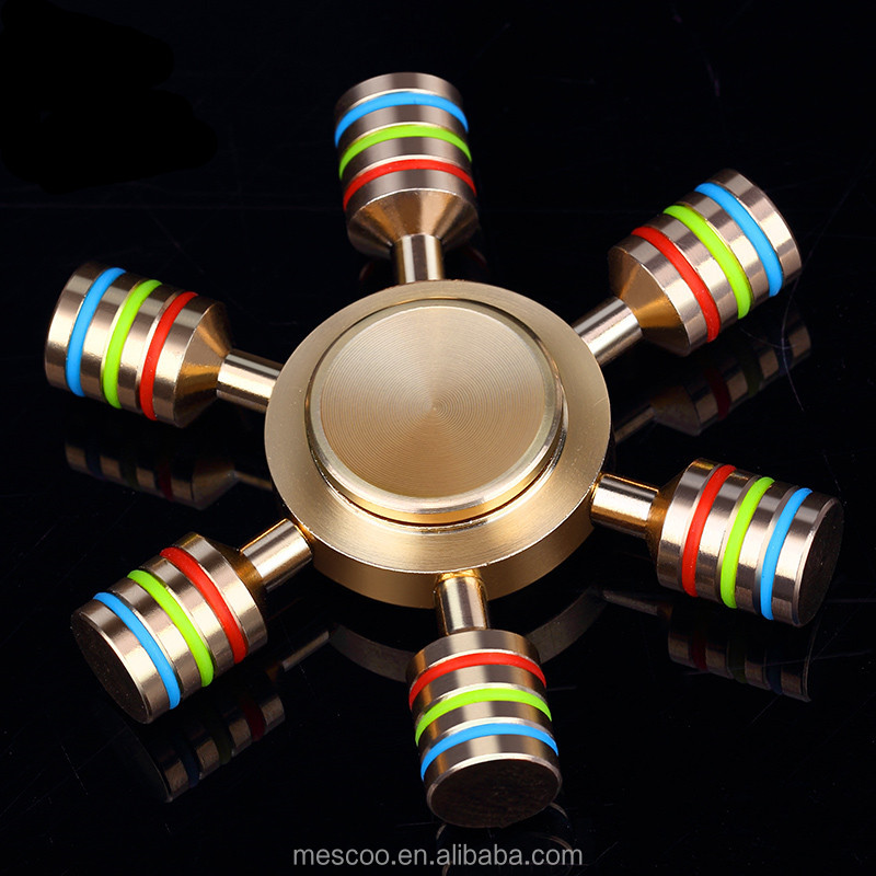 Rainbow Fidget Spinner Finger Spinner Comes With Metal Box Anti Relieve Stress Toys