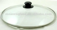 Dome shape with Stainless Steel Rim Toughened Glass Cooking Lid for Pots