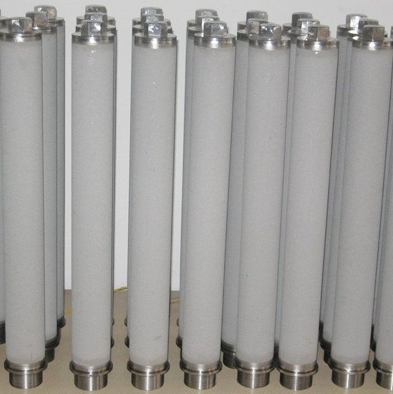 10 micron sintered metal porous filter candle