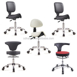 PU / Leather saddle office chair with backrest make in Foshan