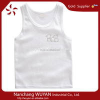 Wholesale high quality plain baby tank top cheap price custom design unisex tank top