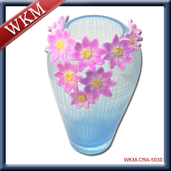 Hot Sale Wedding Colored Glass Vase