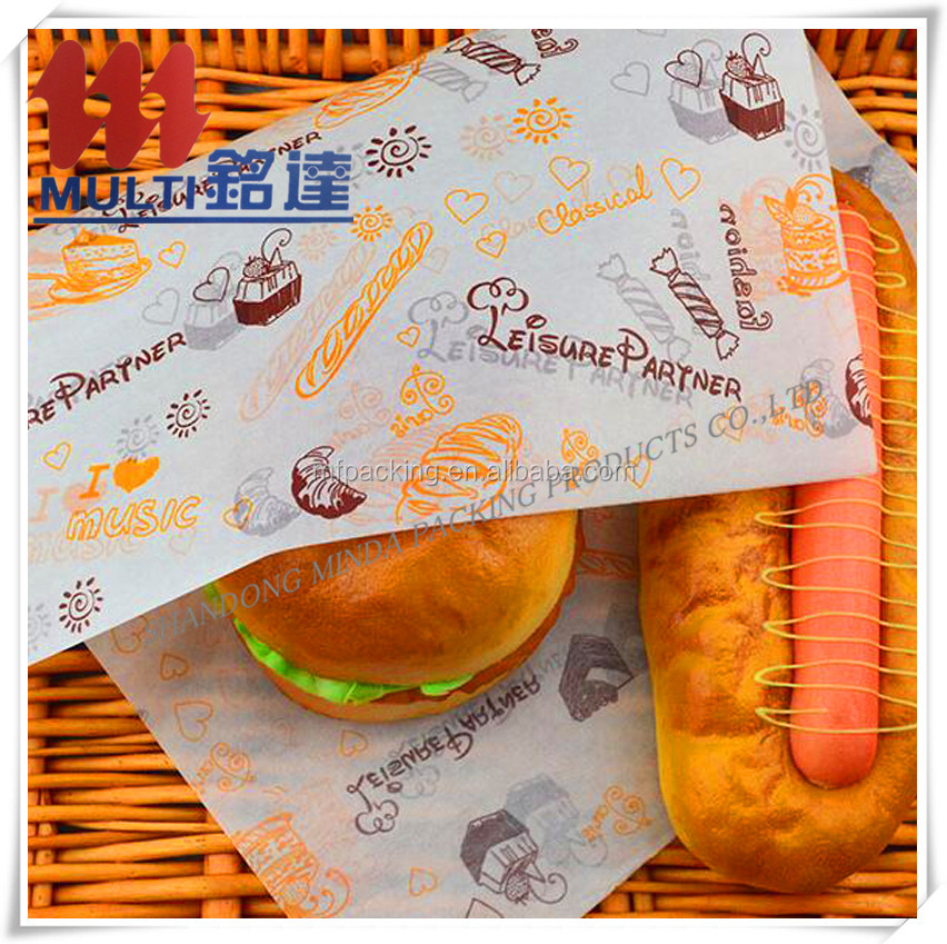 Hamburg paper bread paper oil food wrapping paper