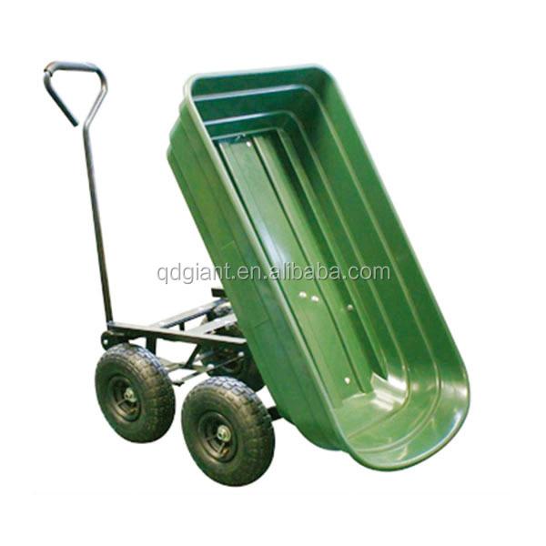 Dump Plastic Garden Wagon With Four Wheels   Buy Garden Wagon,Plastic  Garden Wagon,Garden Dump Cart Product On Alibaba.com