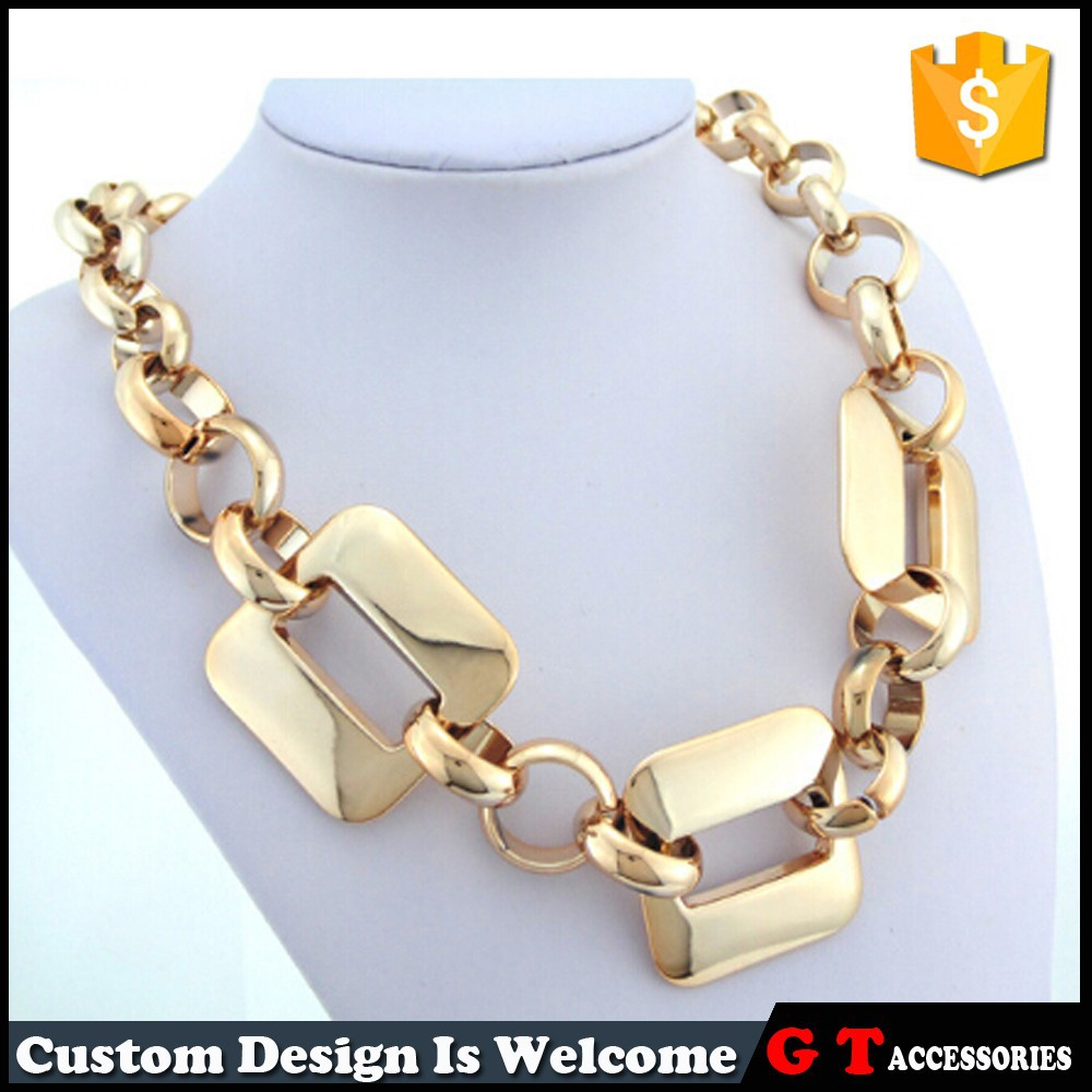 Hot Sale New Chunky Gold Chain Design For Women, Cheap Fashion Accessories