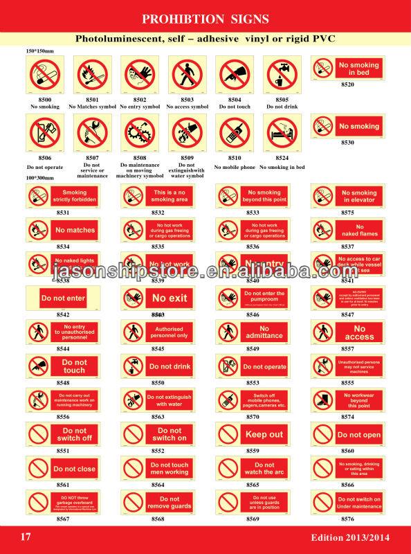 Prohibition Sign Imo Symbols Buy Imo Symbolimo Photoluminescent