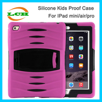 Factory sale shockproof childs proof silicone and PC case for Ipad air 2 / ipad 6
