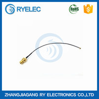 0-3GHZ customized pigtail 1.13mm IPX/UFL to SMA long thread 15mm female connector