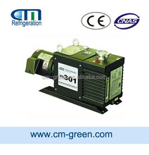 Industrial double stage rotary vane vacuum pump