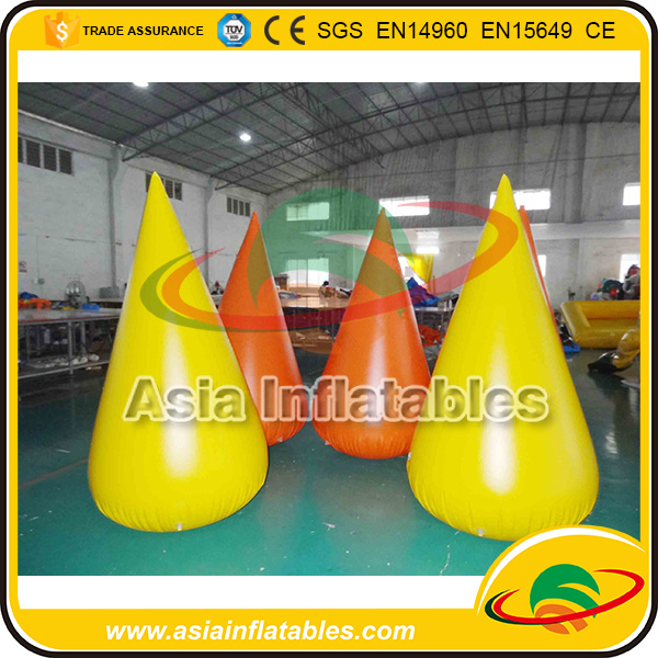 Hot Sale Advertising Inflatable Buoy / Cone Shape Inflatable Swim Buoys With Logo