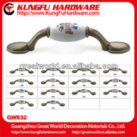 Ceramic handle high quality furniture handle