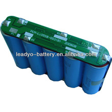 2015 hot sell 18.5V 2200mAh li-ion battery pack/li-ion battery 18v 18650 pack