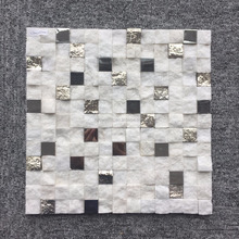 Hot sale bottom price peel and stick metal mosaic tile price