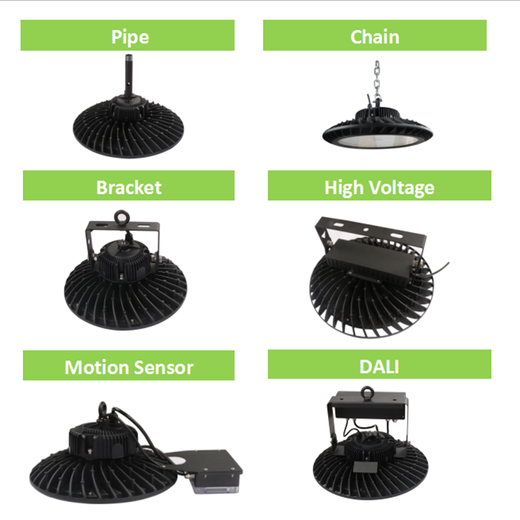 Competitive Price Retrofit Lamp Fixture 100w 120w 150w 200w UFO LED High Bay Light For Industrial