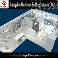 customized fashionable design cosmetic counter top displays for shopping mall