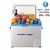 travel 12v dc micro rv freezer mini fridge portable refrigerator factory 25L