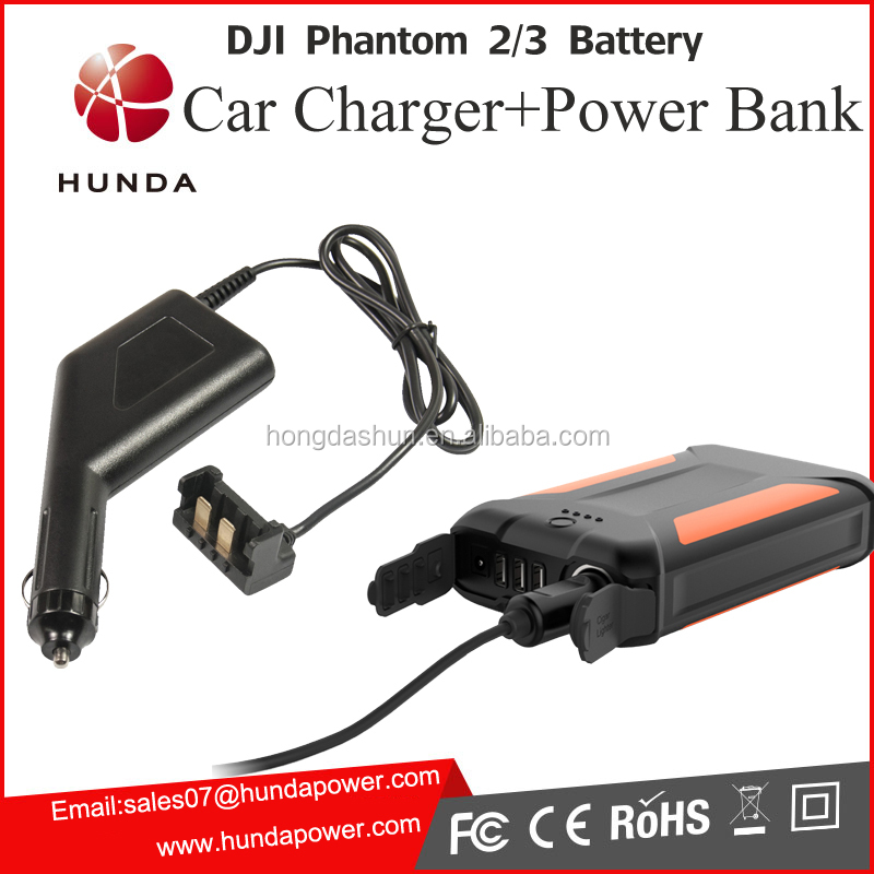 Multi-function Power Bank + 12V car battery charger for DJI battery charging