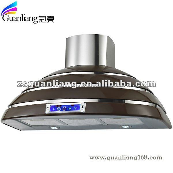 2017 hot sale Middle East 90CM plastic colourful touch switch kitchen range hood cooker hood chimney hood