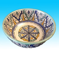 hand painted ceramic soup bowl plate moroccan ceramic