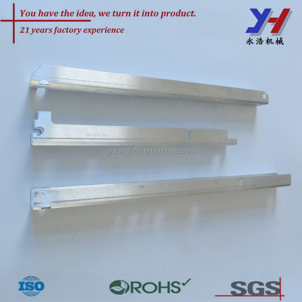 Custom Drilling holes aluminum tube profile Metal stamping parts