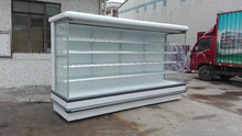 Europe Style Supermarket Open Cooler Used Commercial Refrigerated Produce Display Chiller for Sale