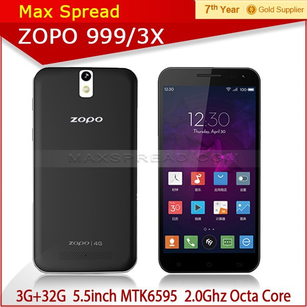 ZOPO ZP999 Lion Heart MTK6595 Octa core 3GB Ram 32GB Rom 5.5'' FHD Screen mobile phone 4g lte