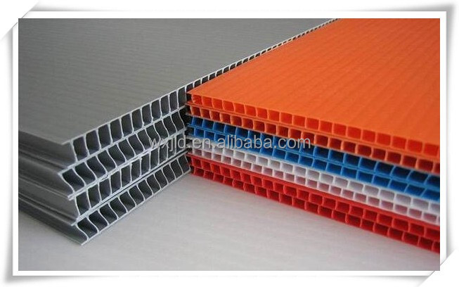 hot sale pp hollow plastic board/sheet used for indoor and outdoor sign