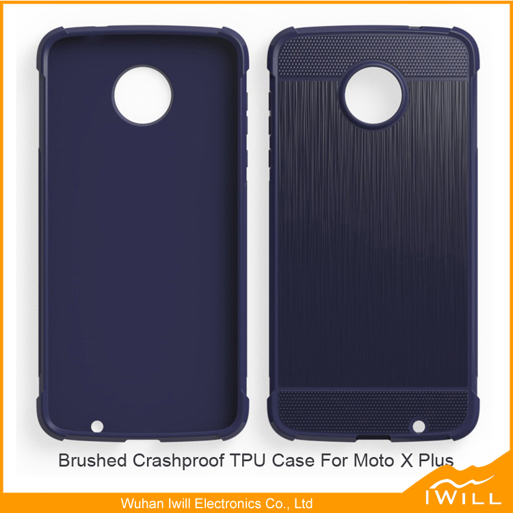 Mobile accessory Brushed Protective Cover For Moto X Plus Crashproof anti drop Case