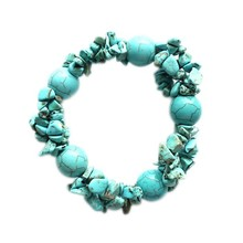 Bohemian handmade turquoise stone bracelet beaded jewelry display ideas
