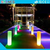 RGB battery operated wireless waterproof plastic event furniture party decorations led light column