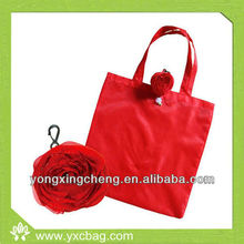 Fashion Reusable Folding Rose Shopping Bag