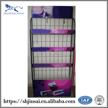 China Made Metal Flooring Retail Book Display Stand