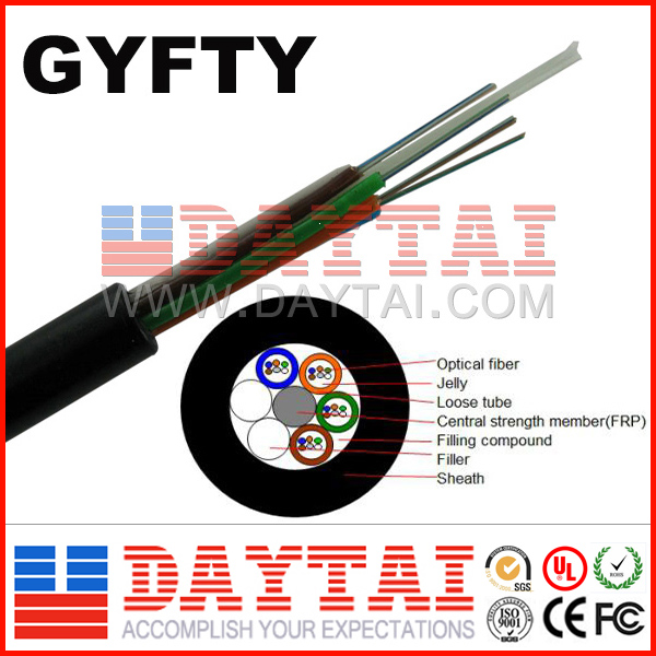 Outdoor 288 Core Fiber Optical Cable GYFTY Aerial Cable