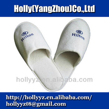 Cotton disposable spa slipper for five star hotel