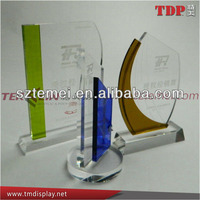 factory direct sale clear custom shape acrylic trophy for business gift