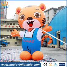 Newest cartoon inflatable tiger advertising inflatable outdoor cartoon advertising inflatable for decoration
