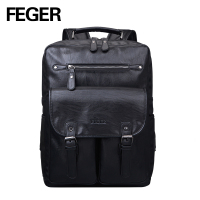 Wholesale mens PU leather hiking laptop back pack bag