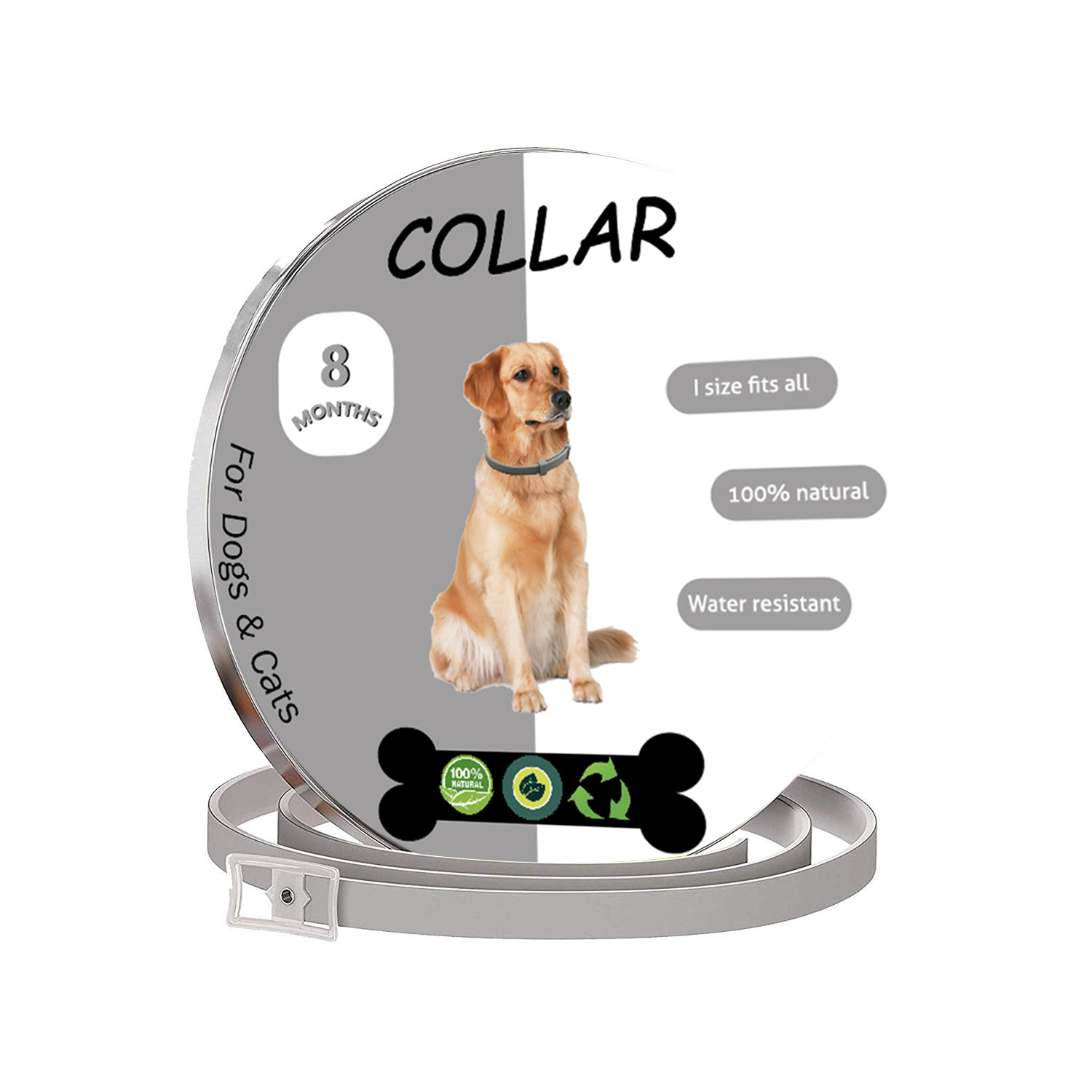 Custom Logo 8 Month Protection Pet <strong>Dog</strong> Anti Eliminating Flea And Tick Collar For <strong>Dogs</strong>