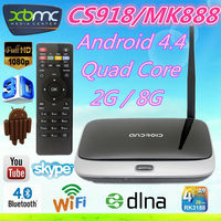 Android Media Player Quad Core CS918 II Google RK3288 Mini PC Supports 4K2K output WiFi XBMC Smart TV Box