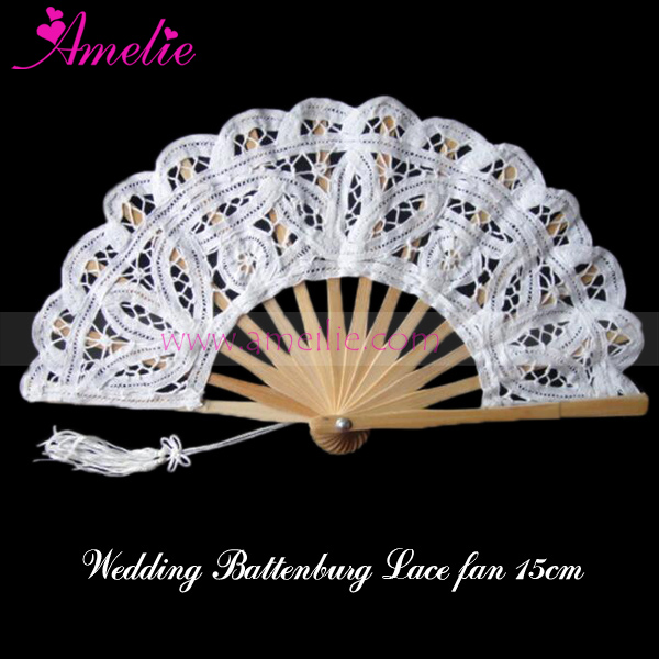 renaissance ladies battenburg lace spanish hand fan party decoration