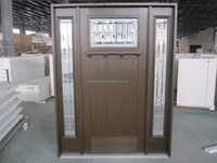 with WPC door frame CFC-free PU core grp frp fiberglass composites door