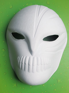 Mask Adult Woman's Full Face White Blank Mardi Gras Costume Plastic
